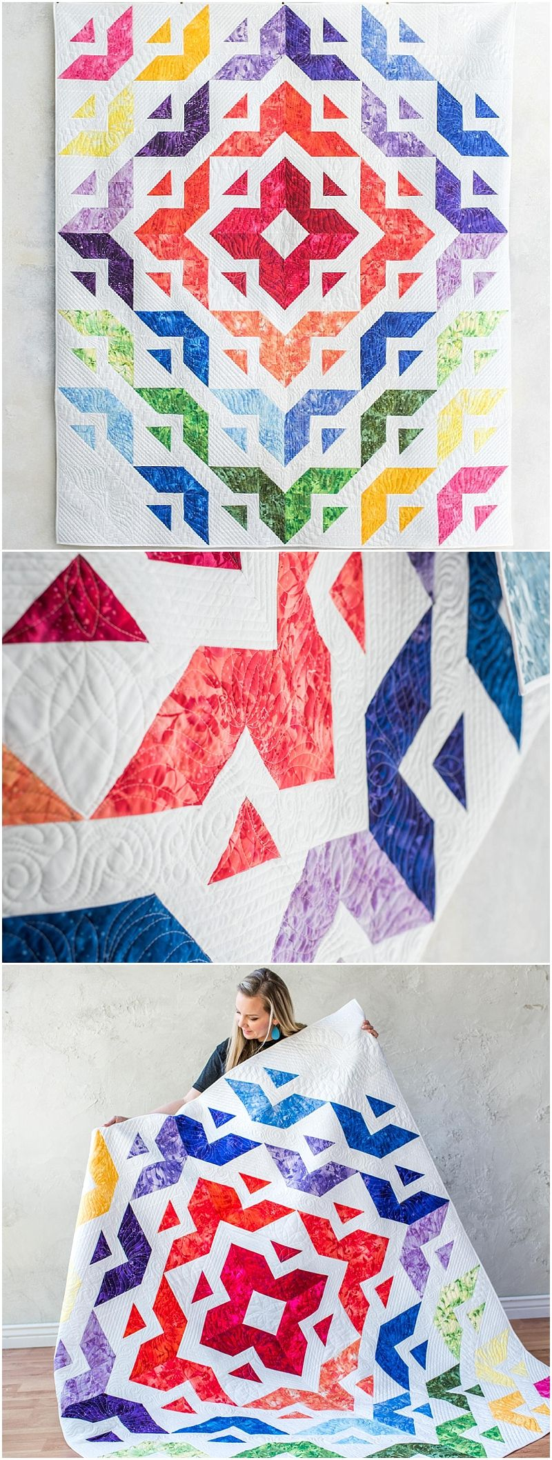 All Roads Quilt Kit | Craftsy. Rainbow quilt kit by Angela Walters ... : all quilts - Adamdwight.com
