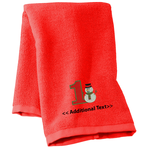Buy #Personalised_Christmas_towels Terry Cotton Towel.This is great Seasonal Towels made from 100% soft organic tery cotton. You can also place your #logo or #text on this towel.