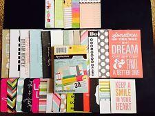 Journaling Cards Assortment-Scrabooking, Erin Condren Kikki K Plum Planner #planner #erincondren #kikki #scrapbook #journaling