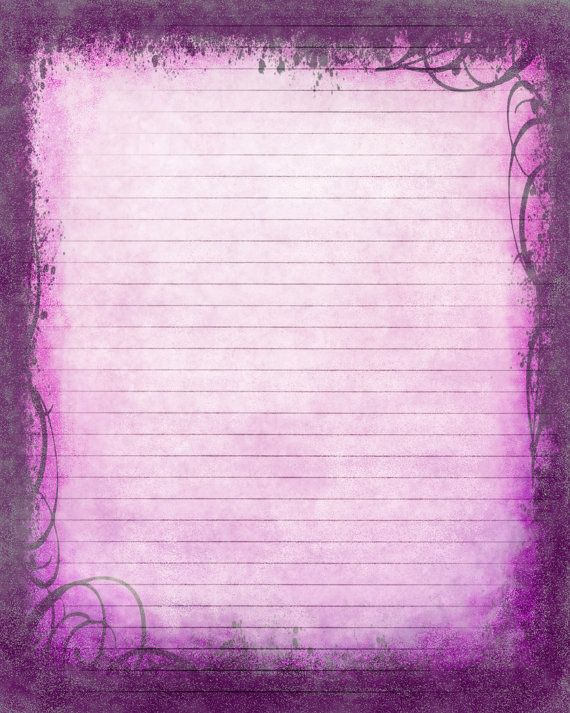 Printable Journal Page, Instant Download, Purple Digital - lined page