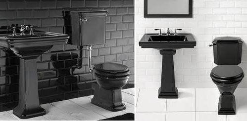Черный унитаз в интерьере: фото, разновидности изделия ...