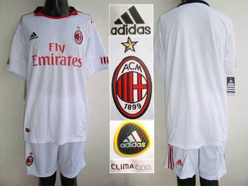 AC Milan Blank White Away Soccer Club Jersey! Only $20.50USD