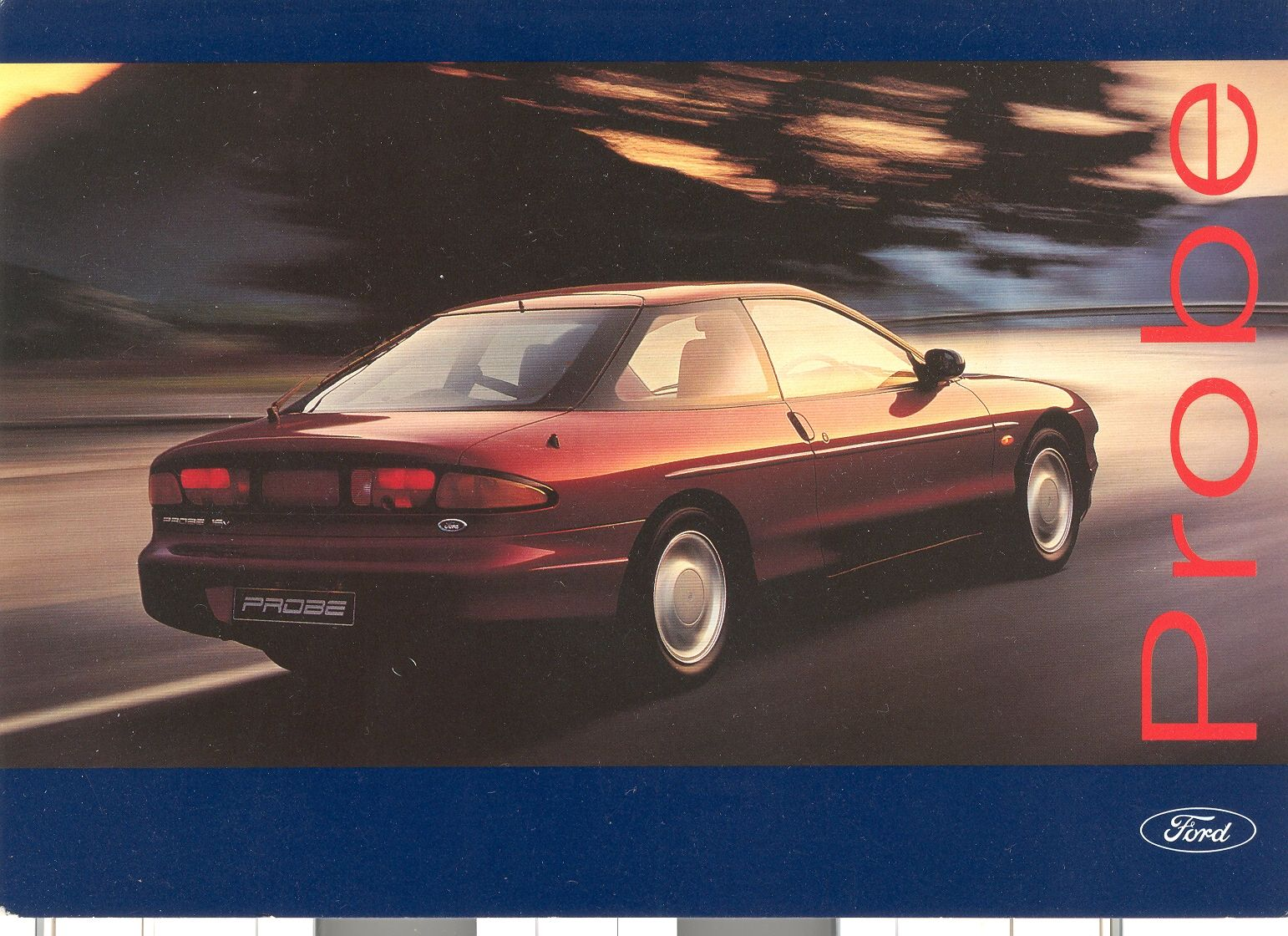 Post Card From Launch Of Ford Probe Ford Probe Ford Hot Wheels