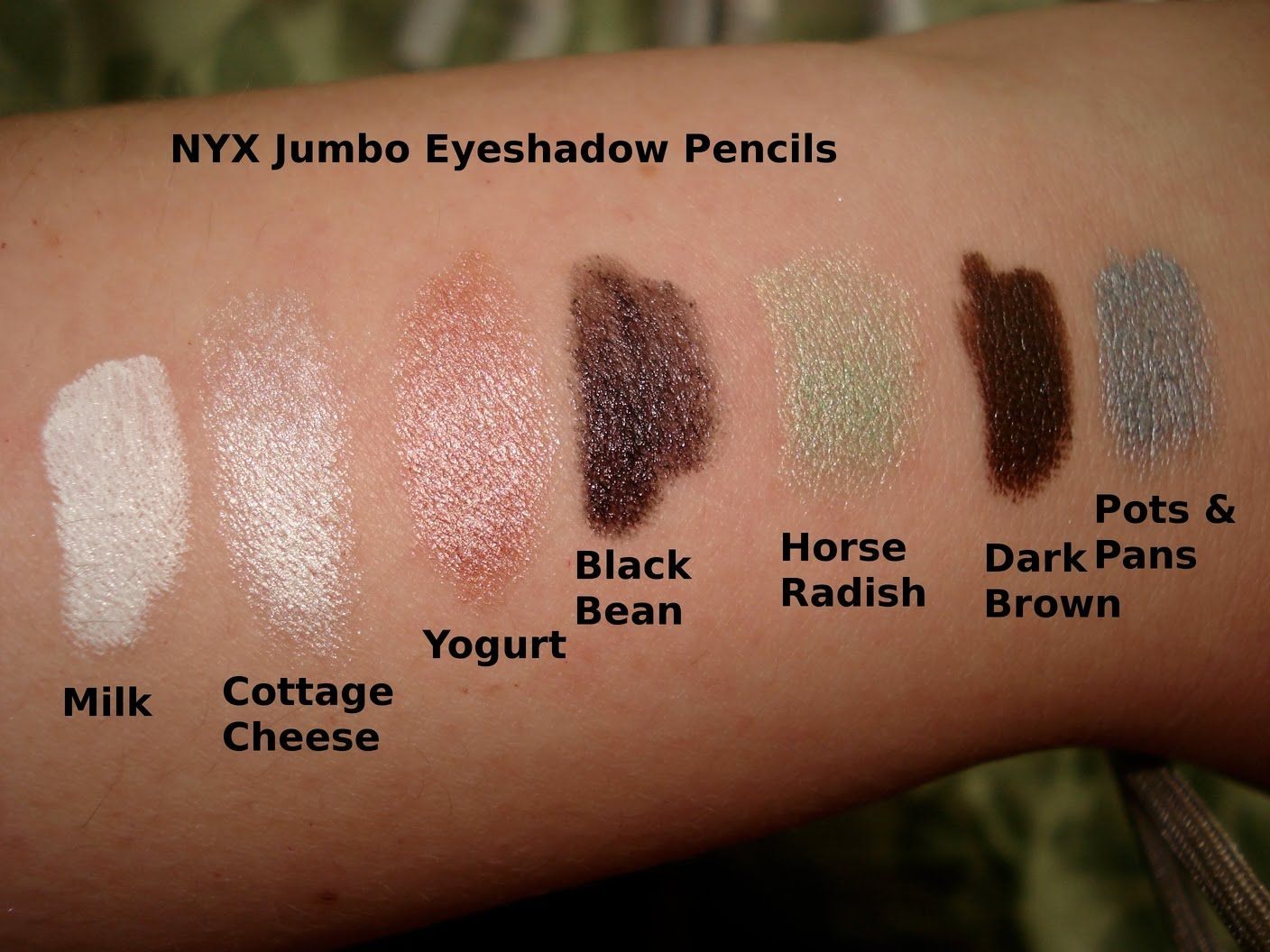 eye shadow swatches | Productrater!: Review: NYX Jumbo ...