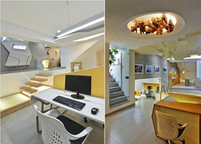 Ideen für Büroeinrichtung und Büromöbel in frischen Farben ...