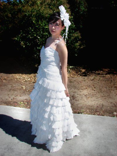vestido de novia con papel higienico - taringa! | ropa reciclada