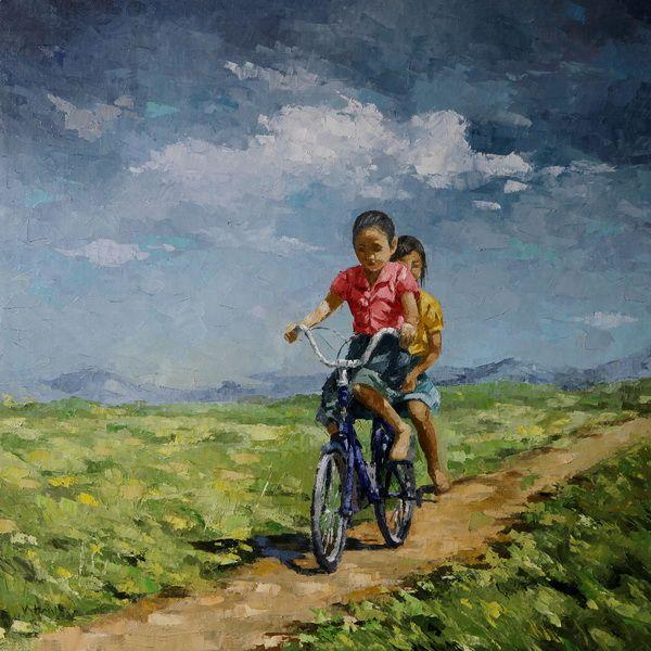 Trail, by Vu Nhu Hai.  Oil on canvas, 2014