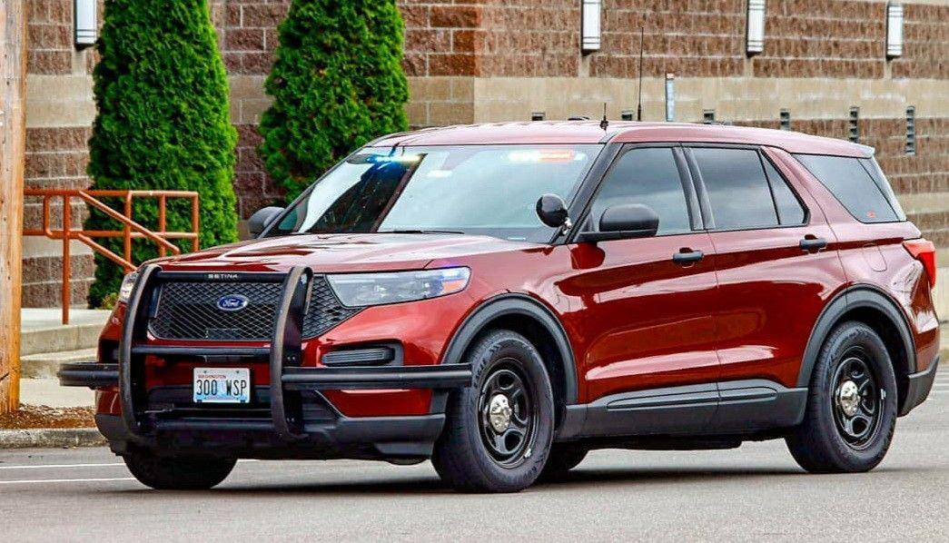 2020 ford police interceptor burgundy