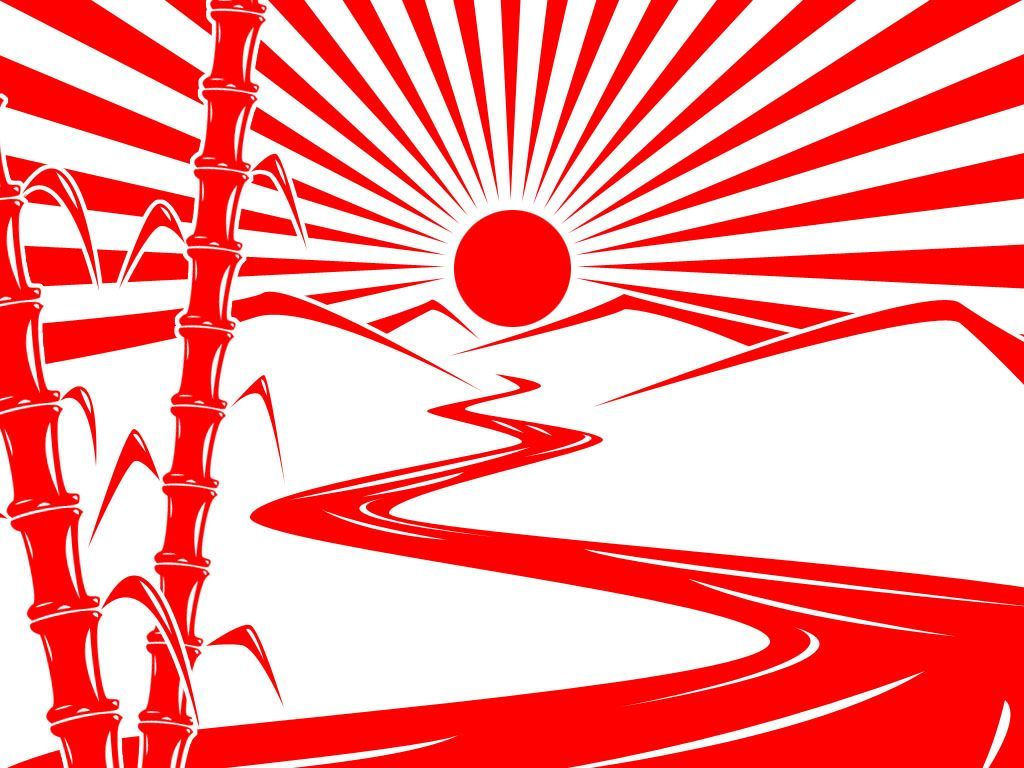 looking at various takes on the classic rising sun silhouettes as