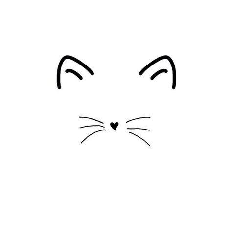 Entdecke Und Teile Die Wunderschonsten Bilder Aus Aller Welt Cat Ears And Whiskers Cat Tattoo Simple Cat Tattoo Small Cat Tattoo Designs