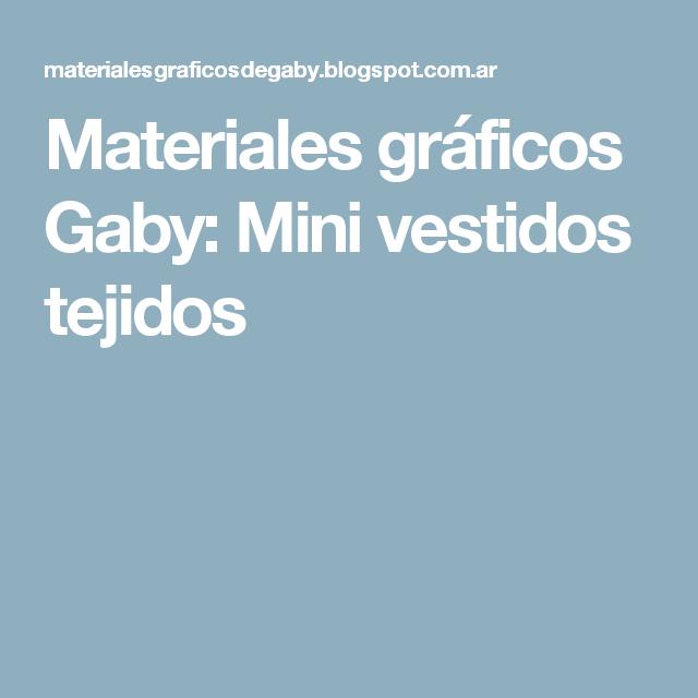 Materiales gráficos Gaby: Mini vestidos tejidos | Muñecas en crochet ...