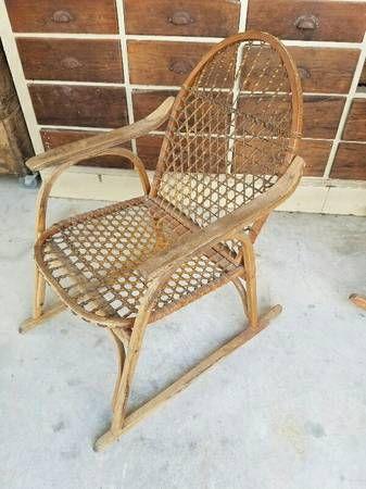 Vermont Tubbs vintage snowshoe chairs // Craigslist