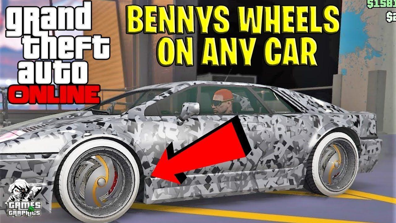 PUT BENNYS WHEELS ON ANY CAR!!! GTA ONLINE (PS4/XBOX