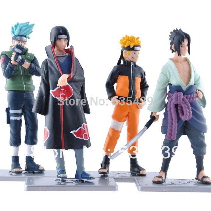 Naruto 4 Pcs Set Kakashi Anime 12cm Anime Action Figure
