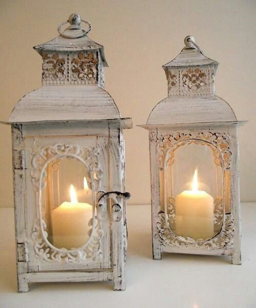 whitewashed lanterns decorate with lanterns pinterest shabby rh pinterest com au shabby chic lanterns white distressed shabby chic lantern centerpieces