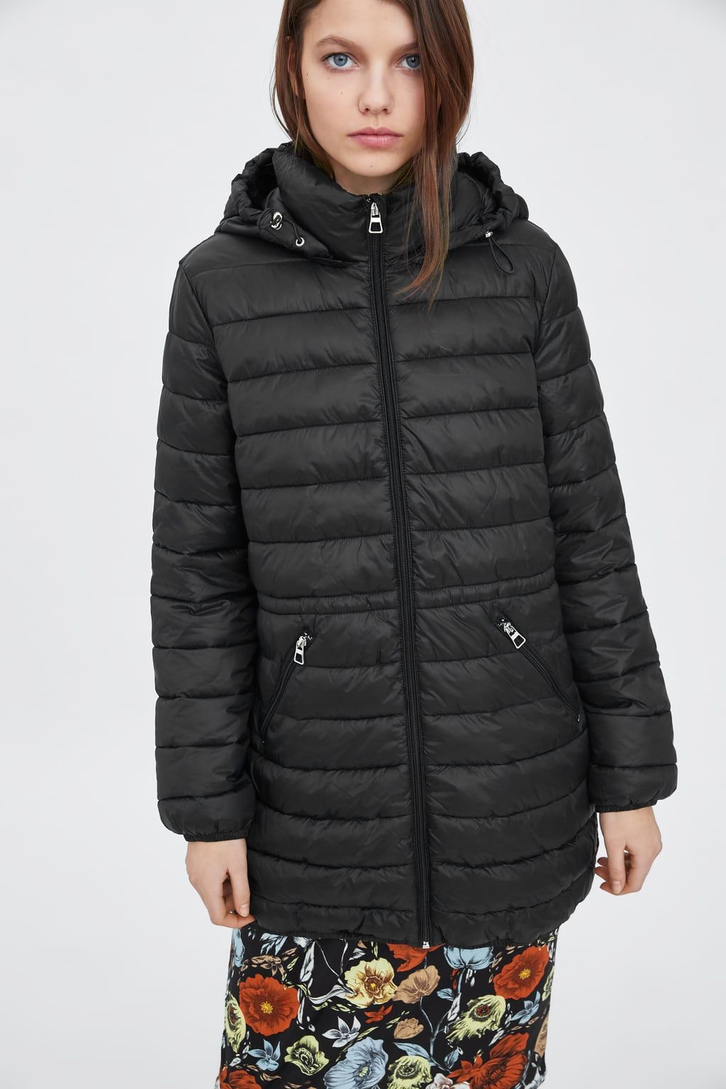 Image 2 Of Foldaway Lightweight Puffer Coat From Zara Puffer Coat Coat Puffer [ 1536 x 1024 Pixel ]