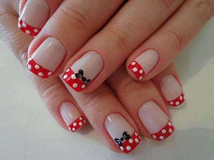 Unhas inspiradas na Minnie Mouse   Beleza   Pinterest   Esmalte
