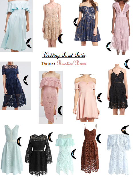 Rustic or barn wedding theme wedding guest dresses what for Dresses to wear at weddings as a guest