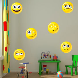 Emoji Wall Art emoji wall stickers! #emoji #wallart #smileyface #wallstickers