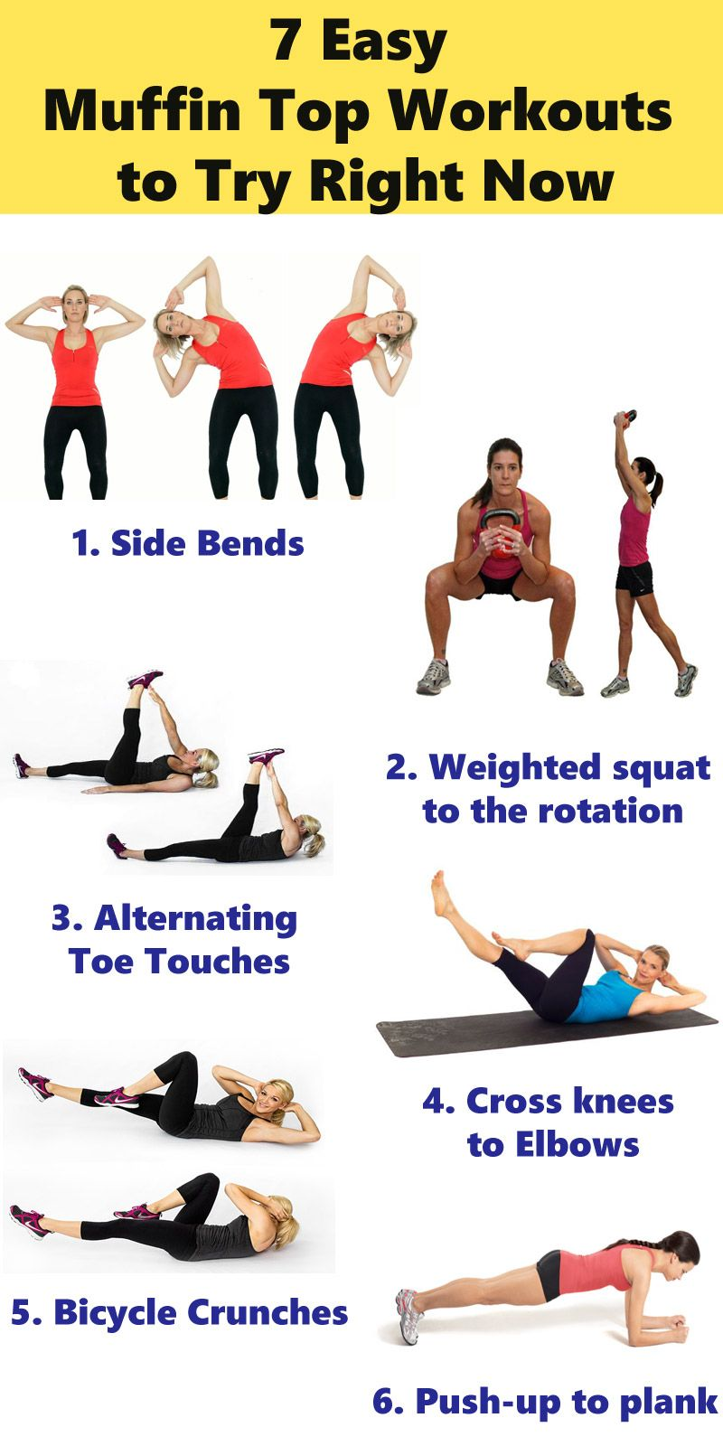 How To Get Rid of Muffin Top -12 Ways To Lose Your Muffin Top