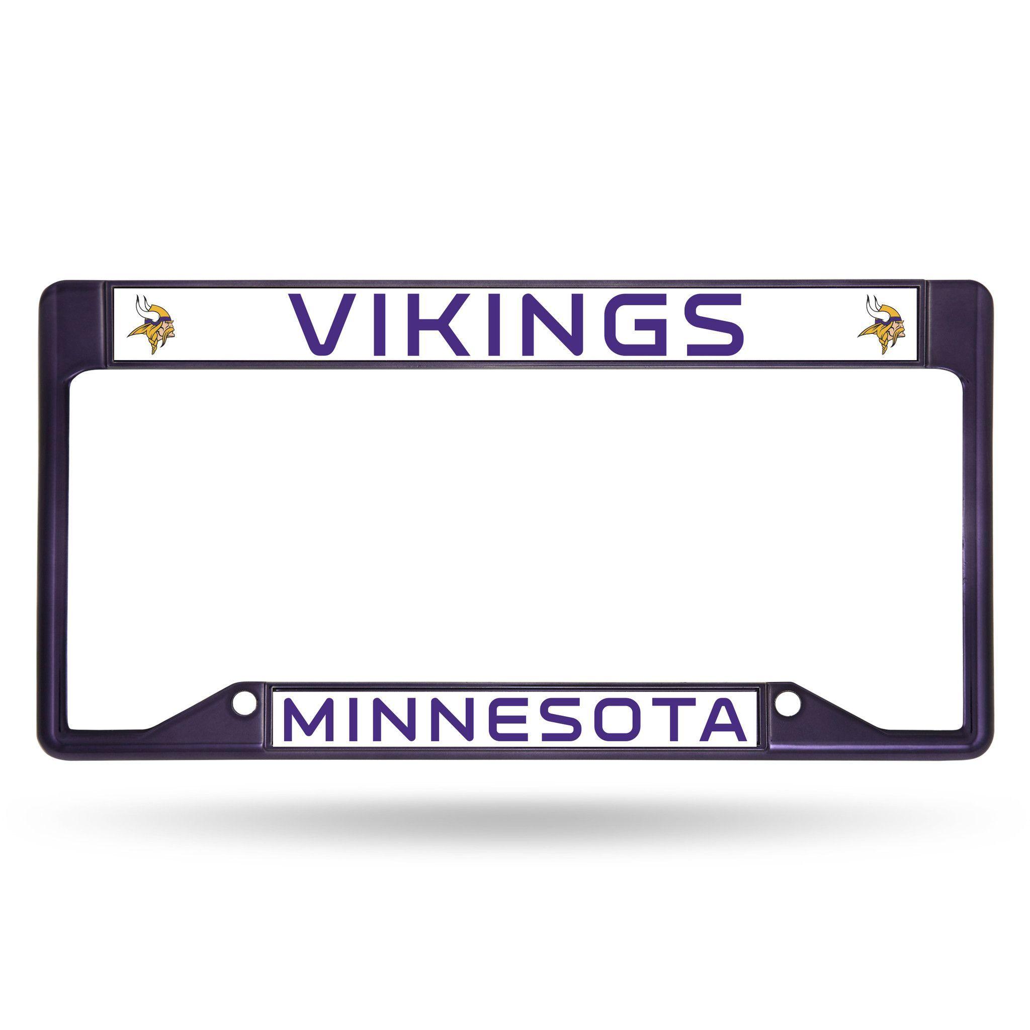 NFL Minnesota Vikings Inverted Purple Colored Chrome License Plate ...