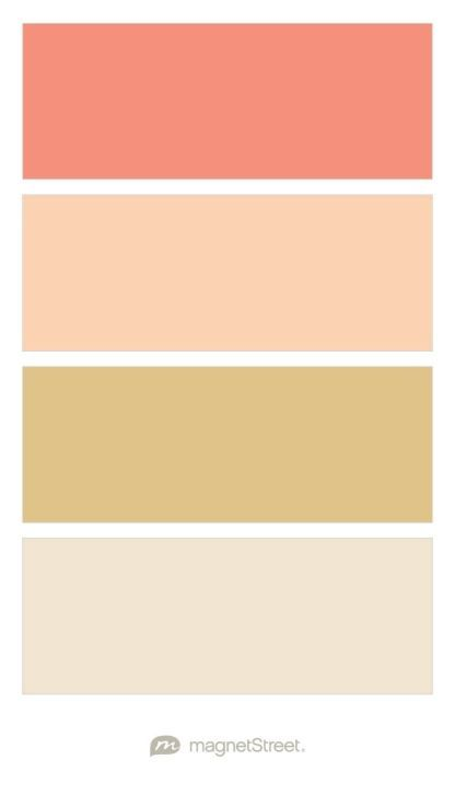 C Peach Gold And Champagne Wedding Color Palette Custom Created