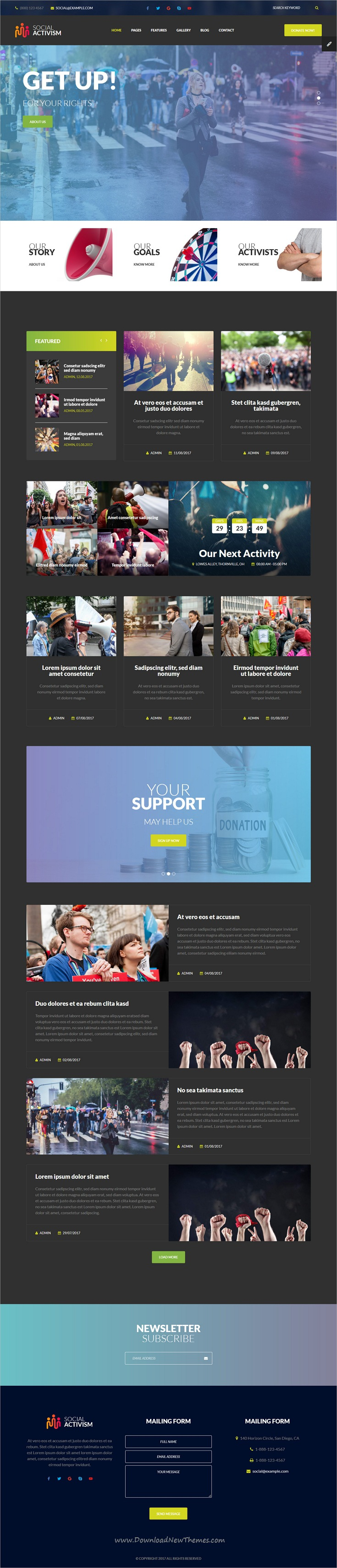 Social Activism - Non-Government Organization HTML Template with ...