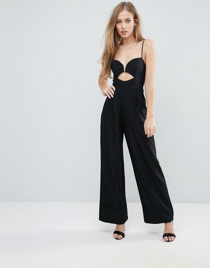7647bb695bd2 Jumpsuit with Cut Out and Wide Leg in 2019