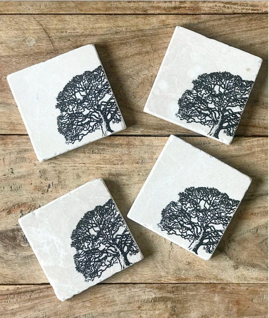 & TREE design natural stone coaster tableware