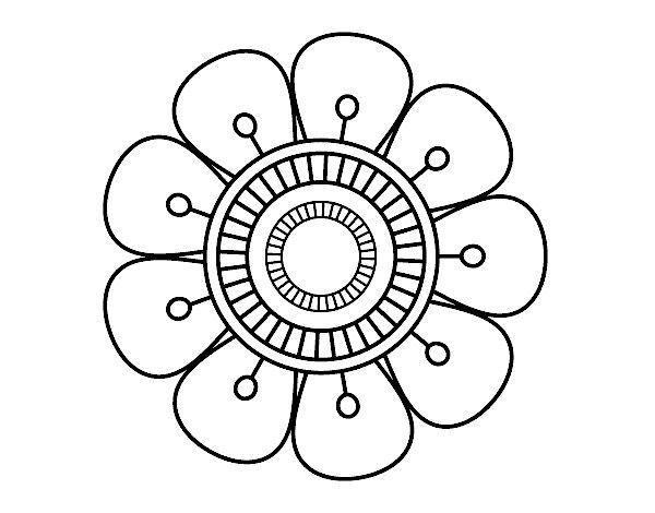 Mandala Rabiscos De Flores Paginas Para Colorir Pintar