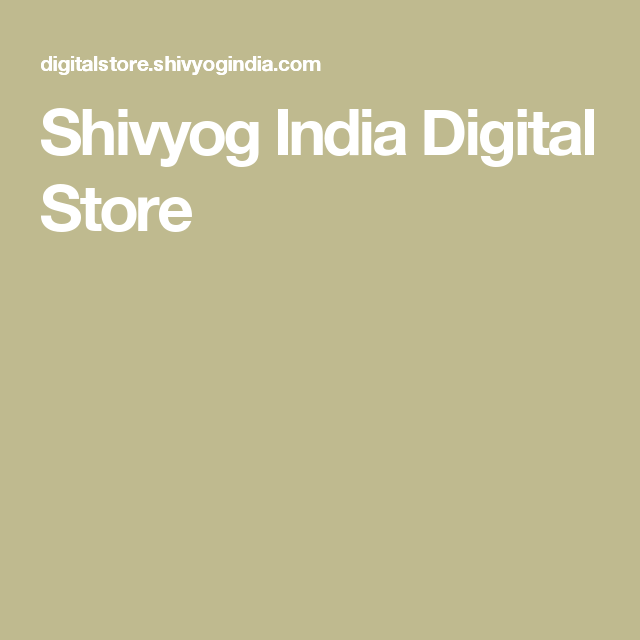 Shivyog India Digital Store | For myself in 2019 | Store, Shopping