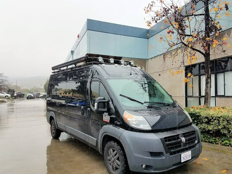 Standard Double Loop Aluminess Roof Rack On A 159 Wheel Base Tall Roof Dodge Promaster Roof Rack Roof Dodge