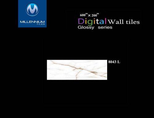 Millennium Tiles 200x600mm (8x24) Digital Ceramic Glossy Design...  Millennium Tiles 200x600mm (8x24) Digital Ceramic Glossy Design Wall Tiles Series. https://goo.gl/P9DMd9 - White Marble Wall Tile Design 8043_L #marble #ceramic #tile #carrelage #tegel #fliesen #b2b