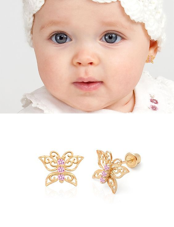Baby Earrings Kids Erfly Dad Jewelry