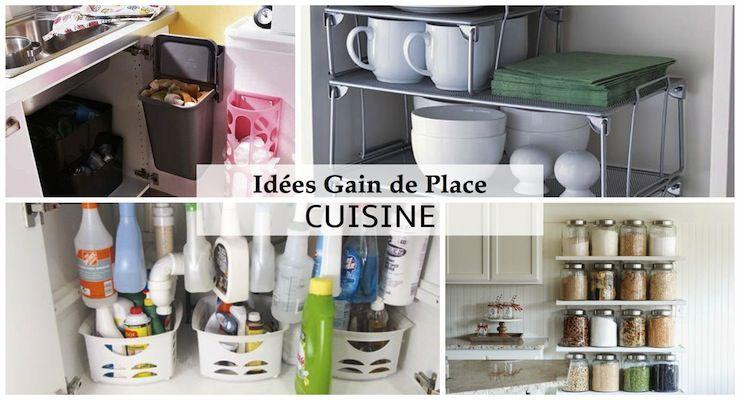 conseils et astuces pour optimiser sa cuisine gain de place rangement assur organisation. Black Bedroom Furniture Sets. Home Design Ideas