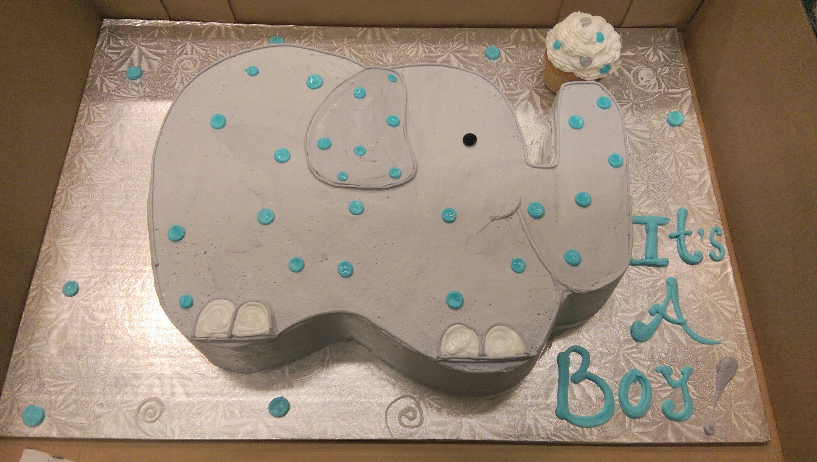 Baby Shaped Cake Images : Calumet Bakery Elephant Shaped Cake Baby Shower Baby ...