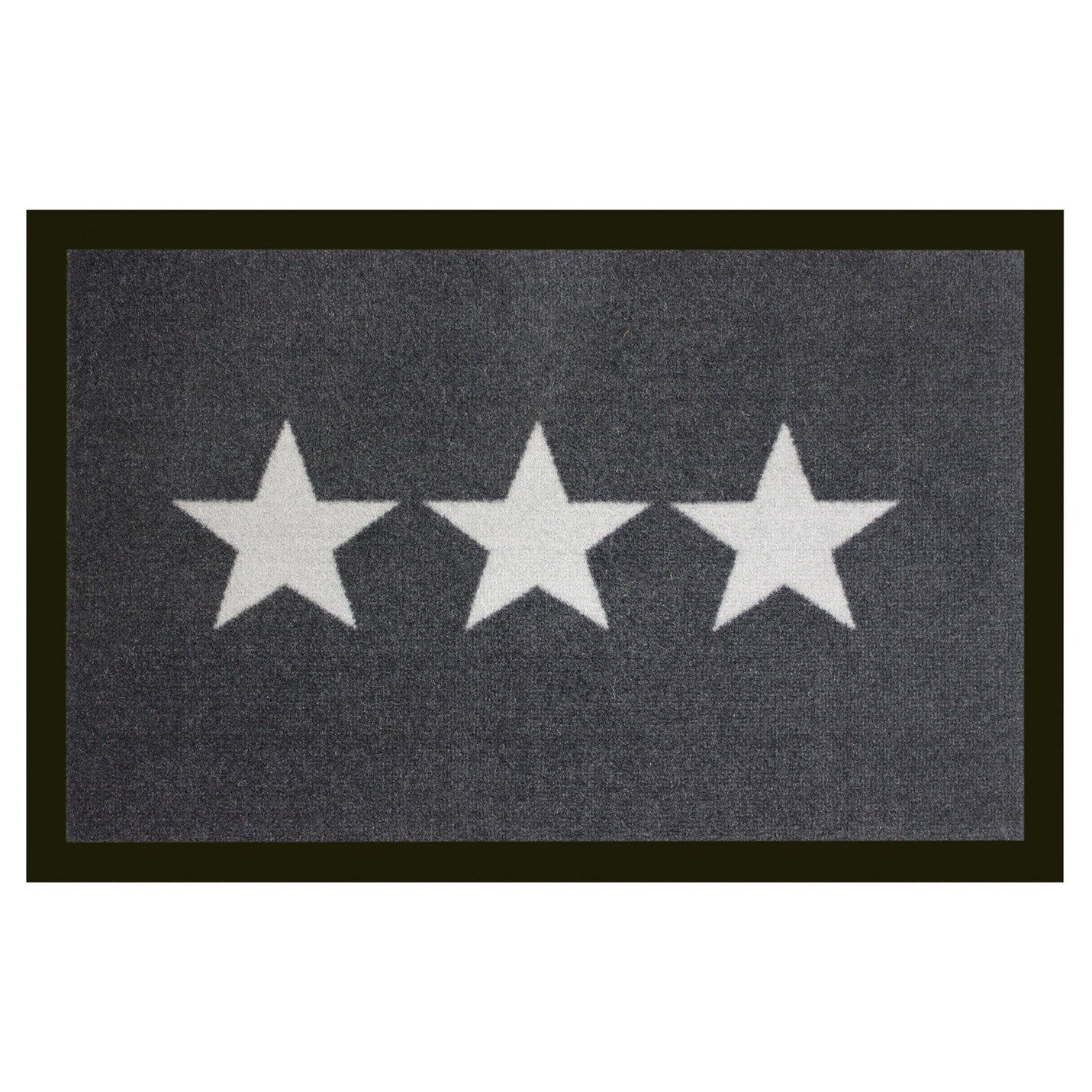 Paillasson Synthetique Anthracite L 40 Cm X L 60 Cm X Ep 0 5 Mm Stars Tapis D Entree Tapis Anti Poussiere Et Paillasson