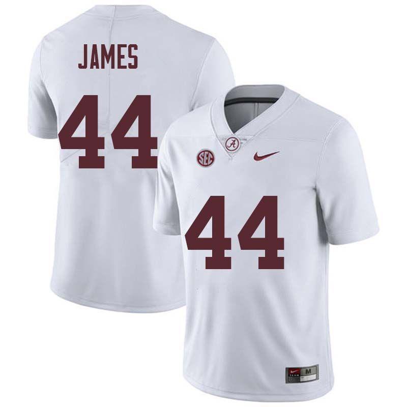 92ecafa9a Men  44 Kedrick James Alabama Crimson Tide College Football Jerseys Sale- White
