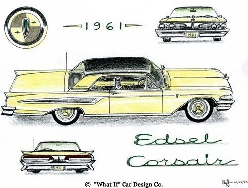 """61 Edsel – concept  pinned from """"what if"""" cars"""