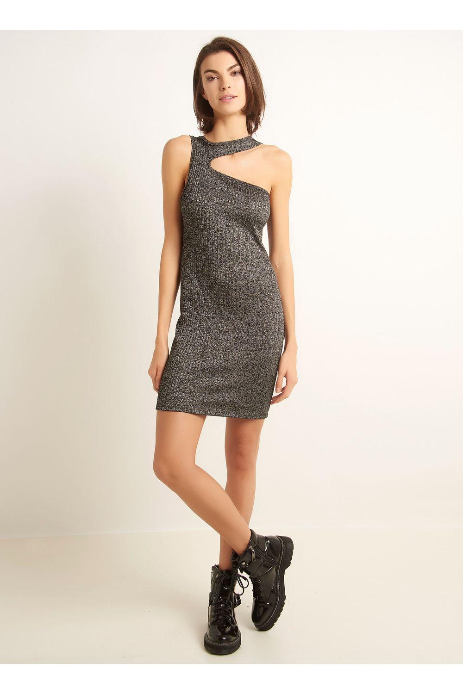 Fully | Idéias de moda, Vestido cinza e Vestidos