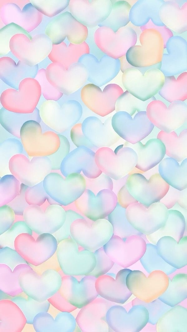 Pastel hearts background em 2019 - Pastel cute wallpaper ...