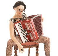 Ms Chalet - Accordion Player Character   East Sussex  South East  UK
