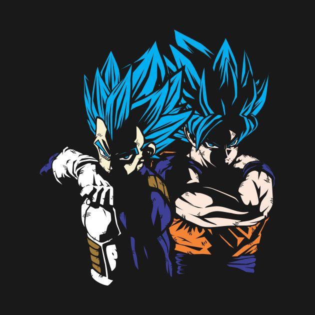 Goku Vegeta Super Saiyan Blue Dragon Ball Artwork Dragon Ball Art Anime Dragon Ball Super Blue wallpaper goku and vegeta