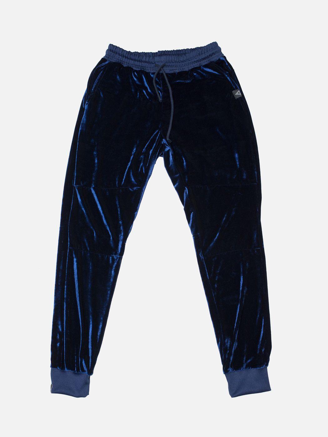 Velour Jogger Blue