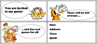 Free Garfield Party Ideas Garfield Birthday Party Kids Party