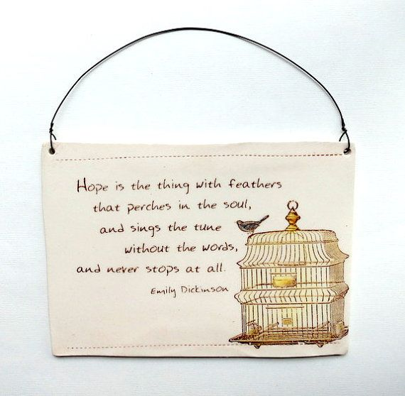 Quote . Wall Plaque . Inspirational poetry . Bird cage . Blue bird ...