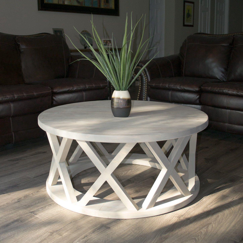Small White Garden Coffee Table