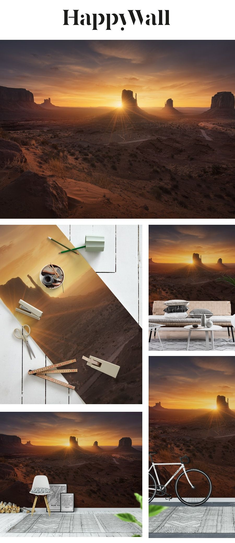 Monument Sunrise Wall mural in 2020 Sunrise wallpaper