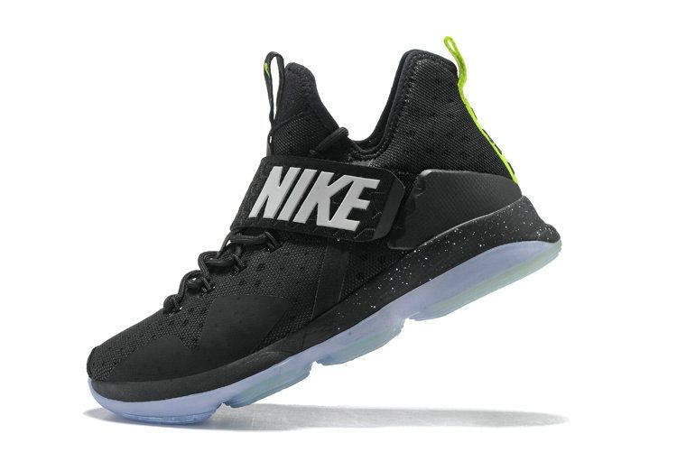 5f57640d845 2018 Cheap Newest Lebrons Lebron 14 XIV Black Volt Anthracite ...