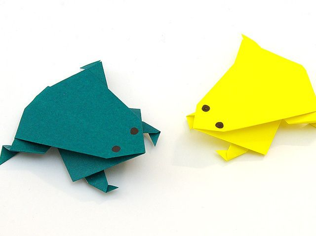 Origami Katak Lompat Diy Pinterest